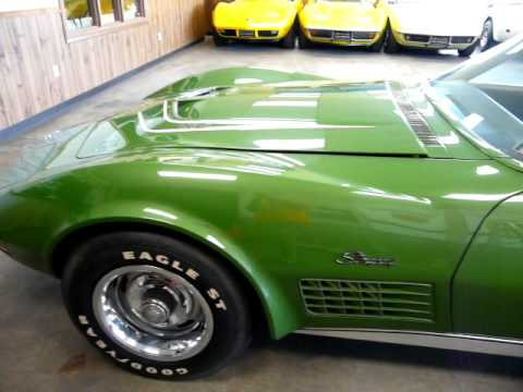 1972 Elkhart Green LT1 Corvette Stingray Video