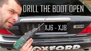 How to unlock the boot of your Jaguar XJ6/XJ8 with a drill