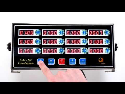 12 Channels Digital Kitchen Timer for Cooking Loud Alarm Clock