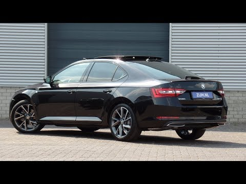 "Skoda NEW SuperB Sportline 2018 Black Magic Pearl 19 Inch ""Vega"" Walk Around & Detail Inside"