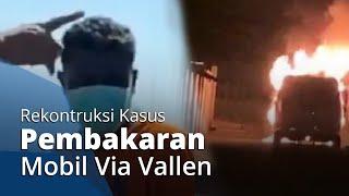 Polisi Gelar Rekonstruksi Pembakaran Mobil Via Vallen, Sang Adik: Pelaku Sudah Sering Pantau Rumah