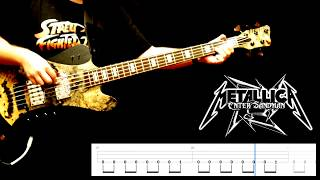 "Metallica ""Enter Sandman""   Bass Cover With Playalong Tabs"