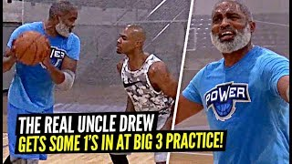 The REAL Uncle Drew Gets Some 1v1s in at Big 3 Practice!! Iso Joe Johnson Is a Shooting MACHINE!