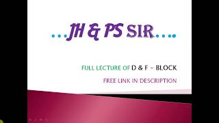 s block by jh sir full lecture - TH-Clip