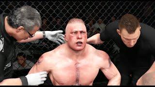 EA UFC (PS4): Brock Lesnar vs Daniel Cormier Heavyweight Full Match New Update!