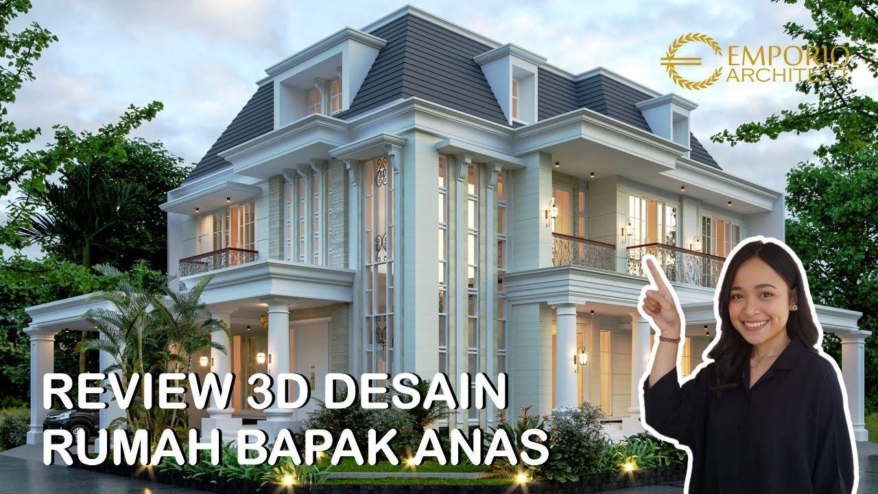 Video 3D Desain Rumah Hook Classic 2.5 Lantai Bapak Anas di Banten