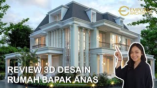 Video Desain Rumah Hook Classic 2.5 Lantai Bapak Anas di  Banten