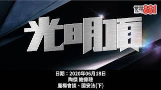 港版國安法中港「溝通唔到」!陶傑求教馬道立、梁文道:「勾結」應該點譯!?