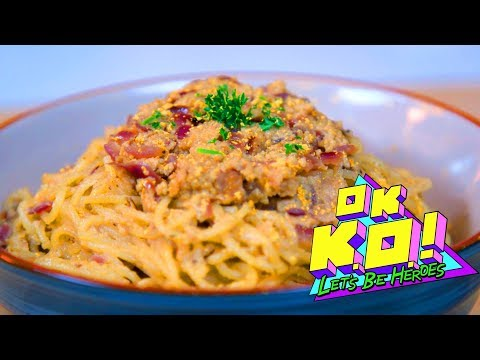 How To Make the Galaxy Truffle Pasta from OK K.O Let's Be Heroes!
