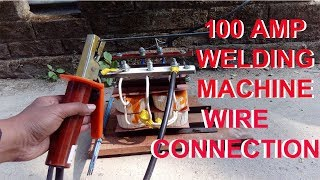 Wire connection of welding machine