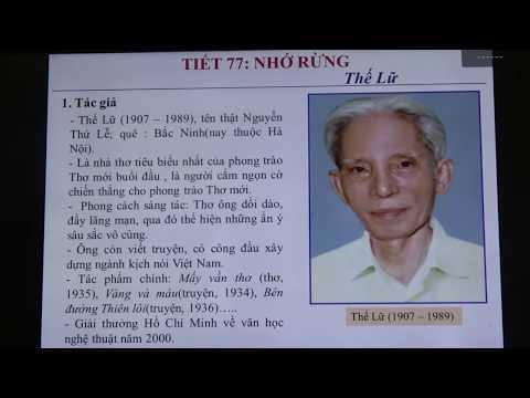 Văn 8-Tiết 77-Bài Nhớ rừng-GV Đặng Thị Trà Giang, trường THCS Thụy Phong