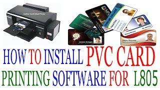 Epson L805 Pvc Card Printing Photoshop म फ त ऑनल इन