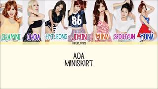 AOA - Mini Skirt (짧은 치마) [Eng/Rom/Han] Picture + Color Coded
