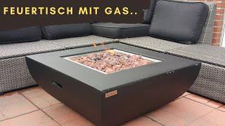 Feuertisch mit Gas (Modeno).