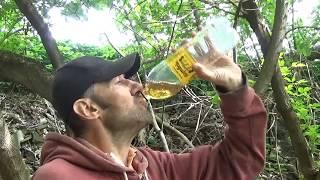 На что готов мужик ради 500 рублей !!!Выпил 3 литра Портвейна 777 .
