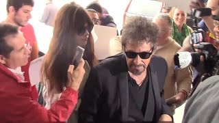 Al Pacino Mobbed By Fans With Girlfriend Lucila Sola At LAX