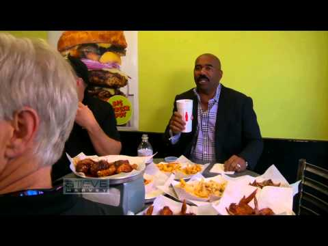 Steve eats the STEVE HARVEY BURGER! || STEVE HARVEY