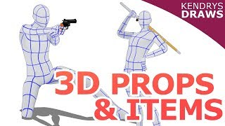 3D props & items- Clip Studio Paint & sketch up