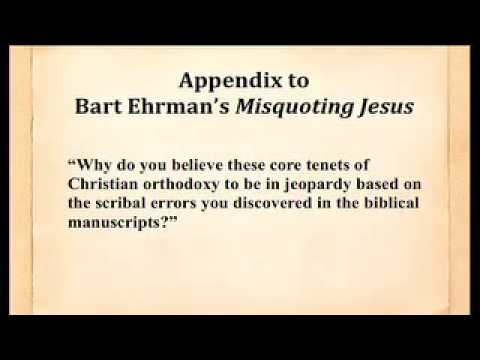 ☆ Bart Ehrman Admits Essential Christian Beliefs…