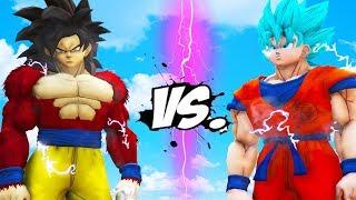 GOKU vs GOKU - Goku (SSJ Blue) VS Goku (SSJ4)