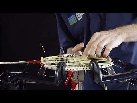 Professional badminton racket stringing in 10 steps