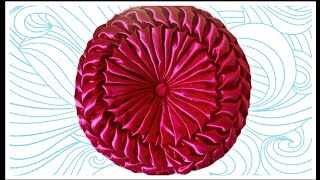 Round Pillow Smocking Shape Cushion Cover Design Pattern Making In Hindi At Home Almofada Capiton