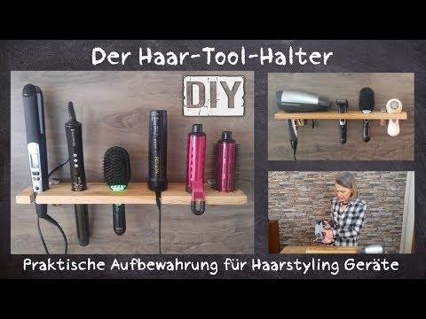DIY: Aufbewahrung für Föhn, Glätteisen, Lockenstab & Co. - Never2Late