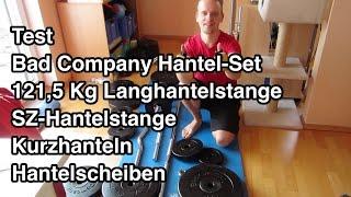 Test Bad Company Langhantelset 121,5 kg | Hanteln | Hantelstange | Langhantelstange | Langhantel