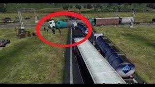 АВАРИИ В EURO TRUCK SIMULATOR 2 MULTIPLAYER - Аварии дальнобойщиков в ETS2MP, Нарезка аварий
