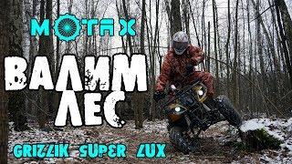 Подростковый квадроцикл motax grizlik super lux 125cc валим деревья в лесу