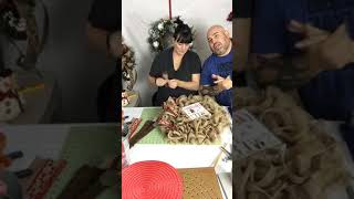 Christmas Gingerbread Ruffle Deco Mesh Wreath Part 2 (2017) Wreath Tutorial