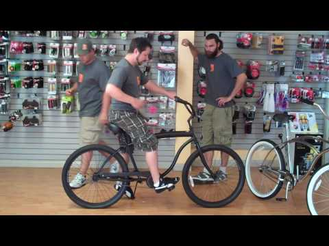 Appropriate beach cruiser bicycle sizing for men