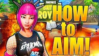 HOW TO AIM LIKE A PRO FORTNITE HOW TO AIM BETTER IN FORTNITE IMPROVE YOUR AIM! BEST FORTNITE TIPS!
