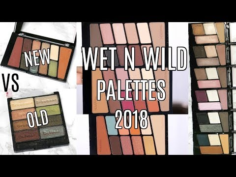 NEW WET N WILD EYESHADOW PALETTES 2018 || Swatches, Comparison & Review