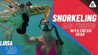 Snorkeling And Fishing with Cressi Gear | Luisa & Cap. Jimmy