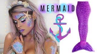 Mermaid Makeup Tutorial | Halloween 2017 | Valerie Pac