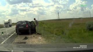 ДТП авария на трассе Акбулак-Оренбург июль 2013 в Оренбургской области Соль-Илекский район