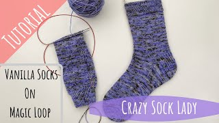 How to Knit Socks on Magic Loop - A Tutorial by Crazy Sock Lady