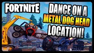 """Dance on top of a giant metal dog head"" LOCATION Guide! (Fortnite Season 7)"