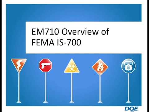 DQE EM710 Overview of FEMA IS-700 - YouTube