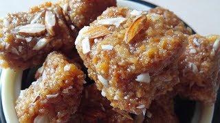 Coconut Burfi- No Sugar Diwali Sweets