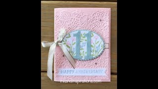 Make An Anniversary Card with Stampin' Up! Number of Years