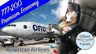 Premium Economy American Airlines 777-200 Flight Review Paris to Miami