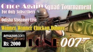 PUBG Mobile Live   Squad Tournament   Win Amazon Voucher Worth Rs:2000