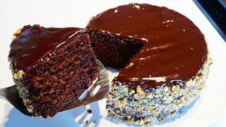 كيك الشوكولاتة بدون فرن بدون خلاط 😍 شوفوا ردة فعل زوجي تخربط من ذاقها 😋😋 كيكة سهلة وسريعة