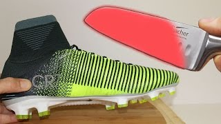 EXPERIMENT Glowing 1000 degree KNIFE VS CR7 Boots