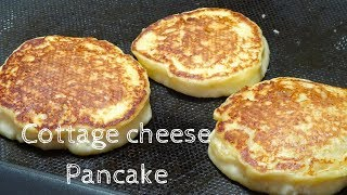 How To Make Fluffy Cottage Cheese Pancake / Recipe ふわふわカッテージチーズパンケーキの作り方 レシピ