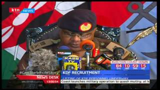 KDF recruitment of 3,000 officers begin in various parts of the country