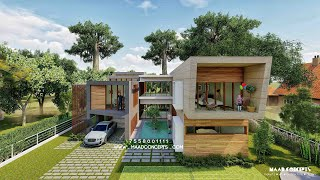 A Stylish, Contemporary 4 Bedroom Modern House In Thrissur, Kerala !