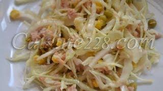 Salade de choux au thon (cuisine Africaine)